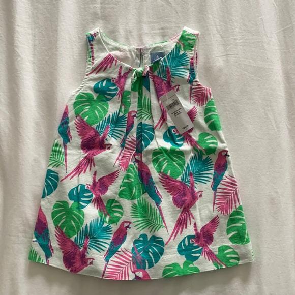 NWT Baby Gap tropical print dress; 12-18m